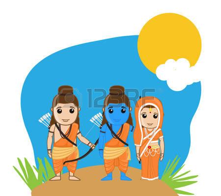 Lord Rama, Sita and Laxmana
