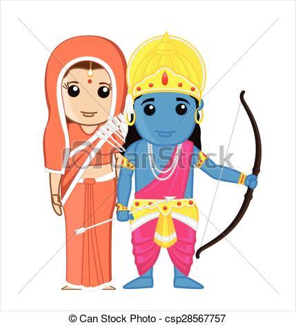 Sita and Ram - Indian Goddess - csp28567757