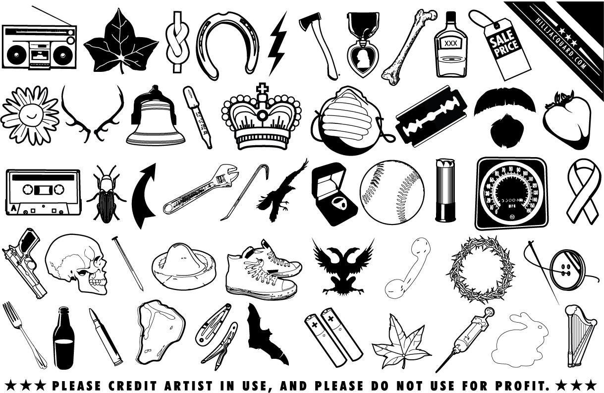 Random scrap icons and useless ephemera