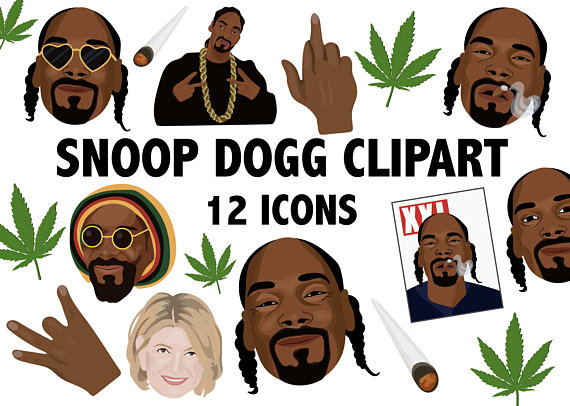 SNOOP DOGG CLIPART hiphop clipart rap clipart hip hop icons rapper clip art  Snoop Doggy Dogg icons weed clipart rapper Martha Stewart