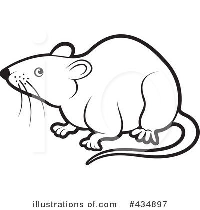 Rats Clipart Black And White  - Clipart Rat