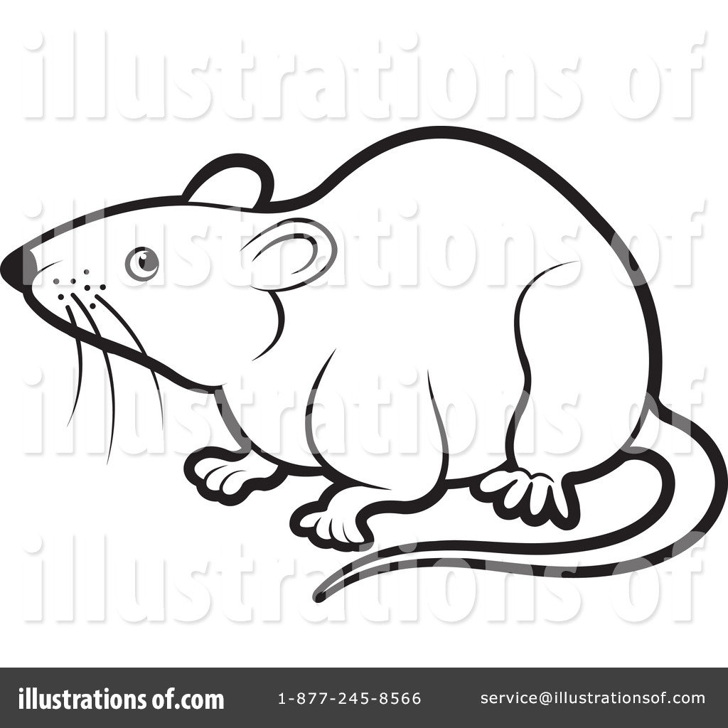Rats Clipart Black And White Royalty Free Rf Rat Clipart