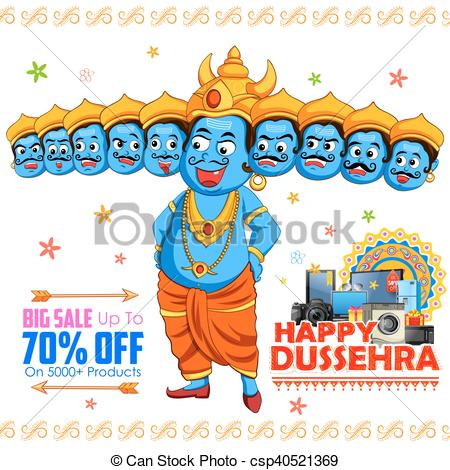 Ravana for Happy Dussehra sale promotion - csp40521369