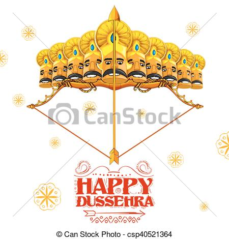 Ravana with ten heads for Dussehra - csp40521364