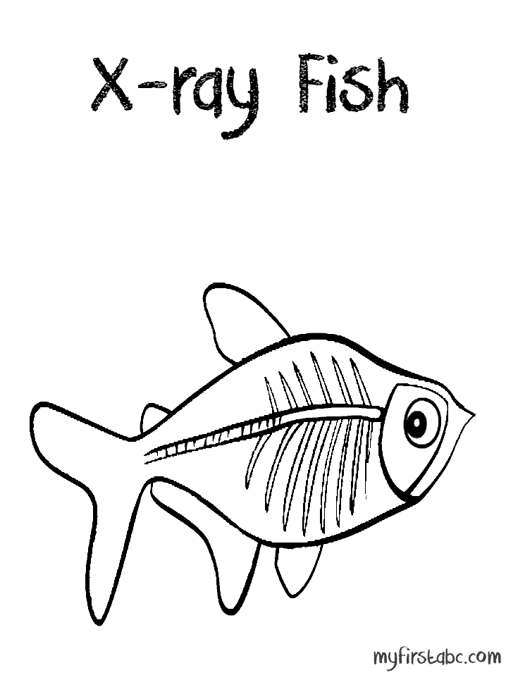 Ray Fish X Ray Fish Coloring Page