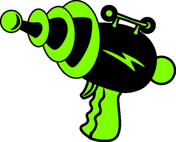 Ray Gun Green And Black No Shadow Clip Art At Clker Com Vector Clip