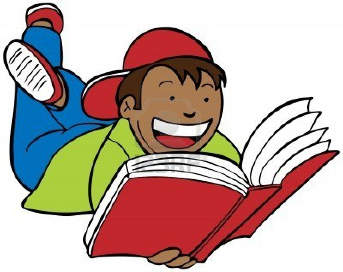 Reading Clip Art - Kids Reading Clipart