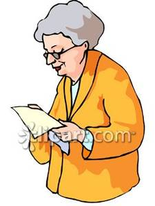 Reading Old Woman Clipart #1-Reading Old Woman Clipart #1-7