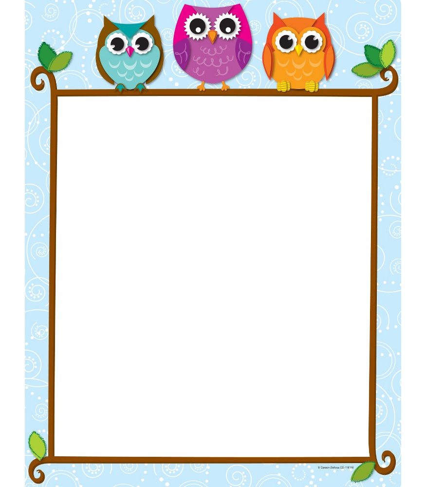 Reading with Colorful Owls Scalloped Bor-Reading with Colorful Owls Scalloped Borders | Carson-Dellosa-3