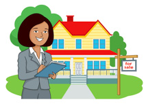 Real estate agent clipart. Size: 110 Kb