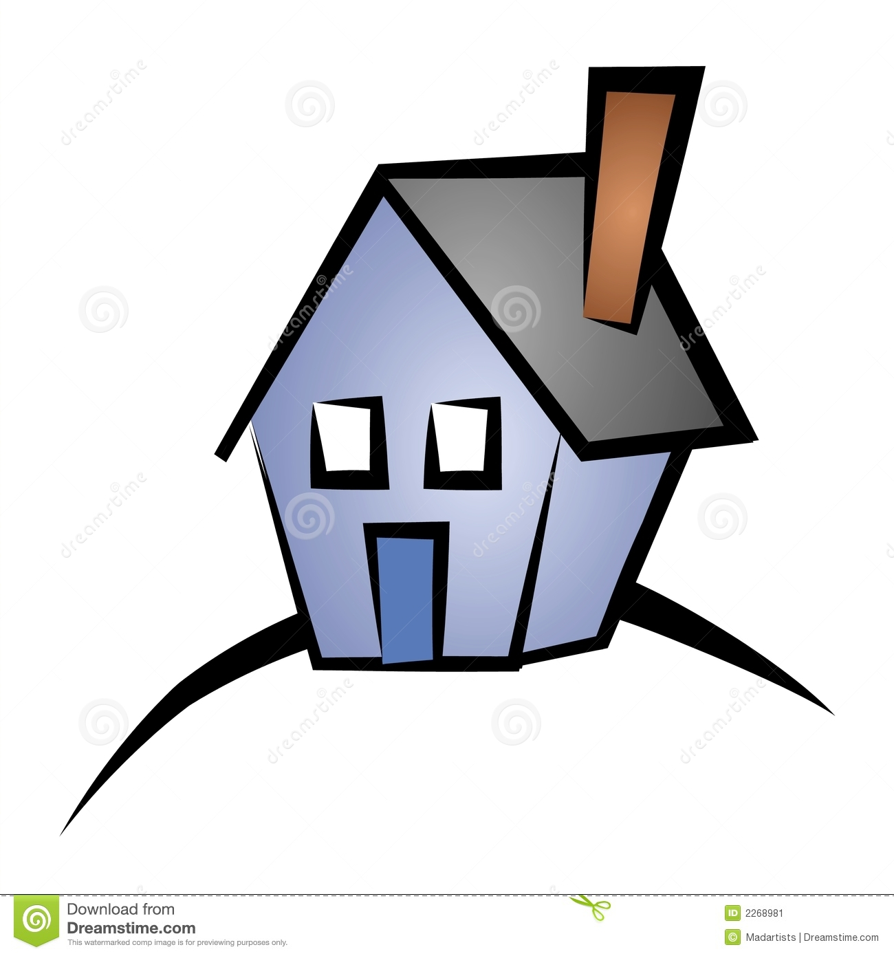 Real Estate Clip Art House 4