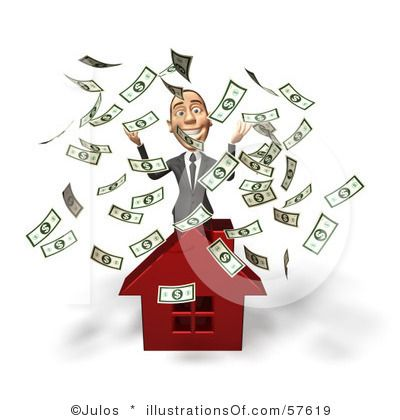 Money house clip art