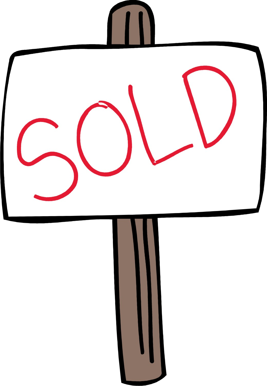 Real Estate Sold Sign Clipart .