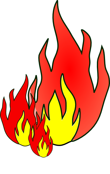 realistic fire flames clipart
