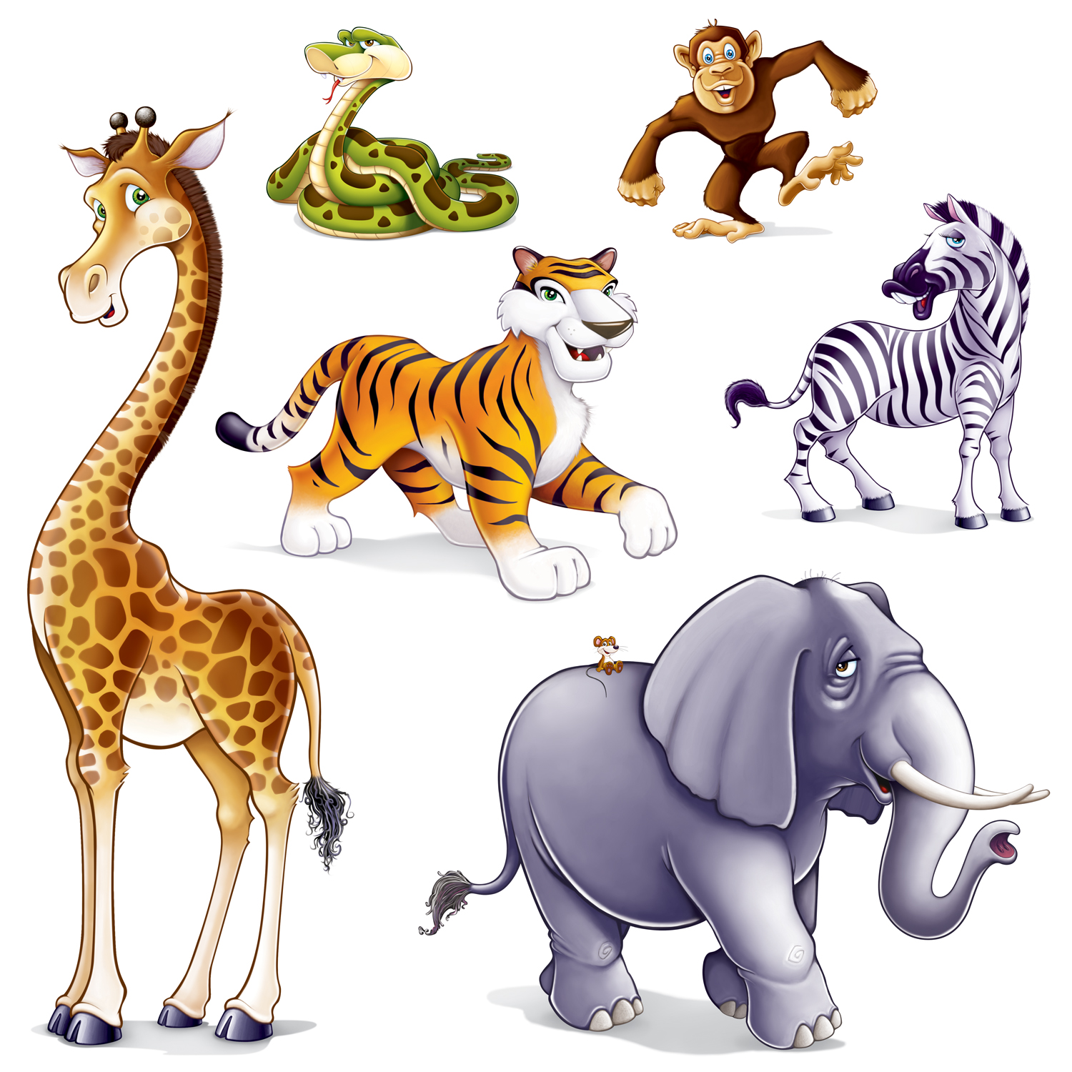 Realistic Wild Animals Clipart