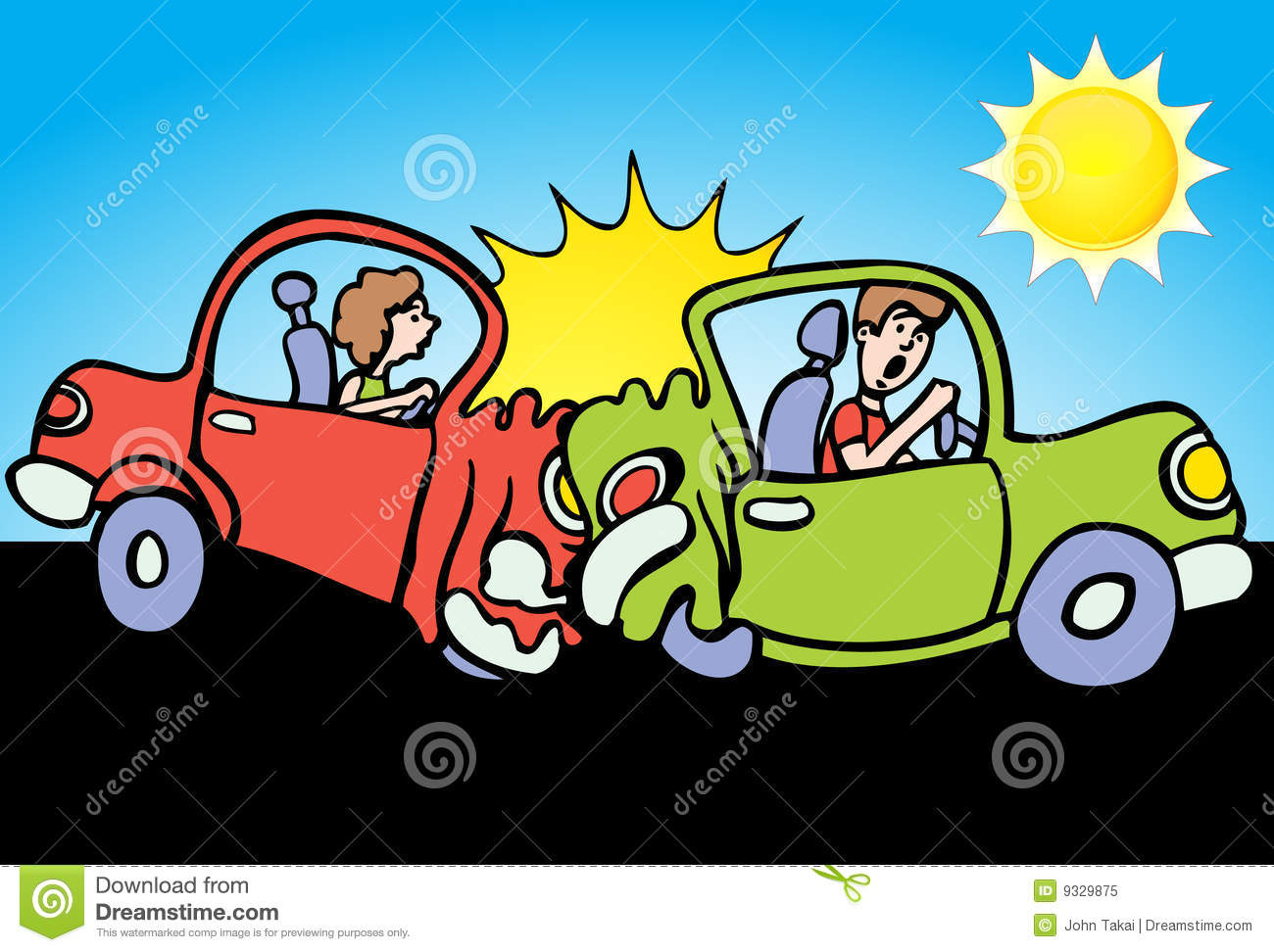 Rear Car Accident Clipart