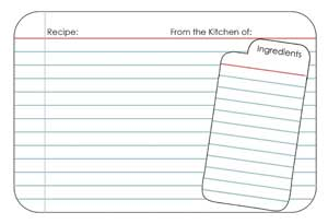 Recipe Card Clipart #1