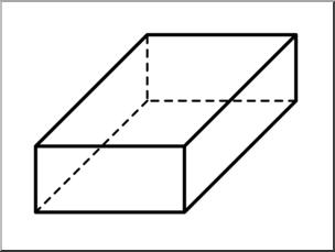 Clip Art: 3D Solids: Rectangular Prism B-Clip Art: 3D Solids: Rectangular Prism Bu0026W I abcteach clipartlook.com - preview 1-10