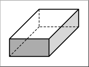 Clip Art: 3D Solids: Rectangular Prism G-Clip Art: 3D Solids: Rectangular Prism Grayscale I abcteach clipartlook.com - preview 1-13