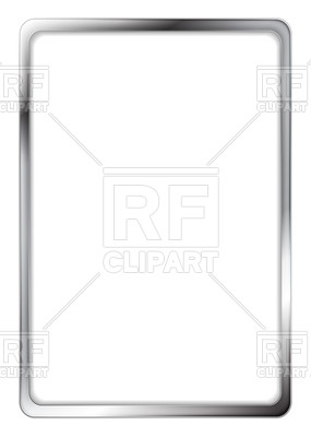 Rectangular metallic silver frame, 57229-Rectangular metallic silver frame, 57229, download royalty-free vector  vector image ClipartLook.com -2