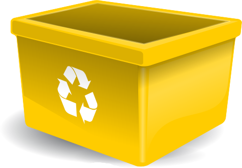 Recycle Bin Yellow - Recycling Bin Clipart