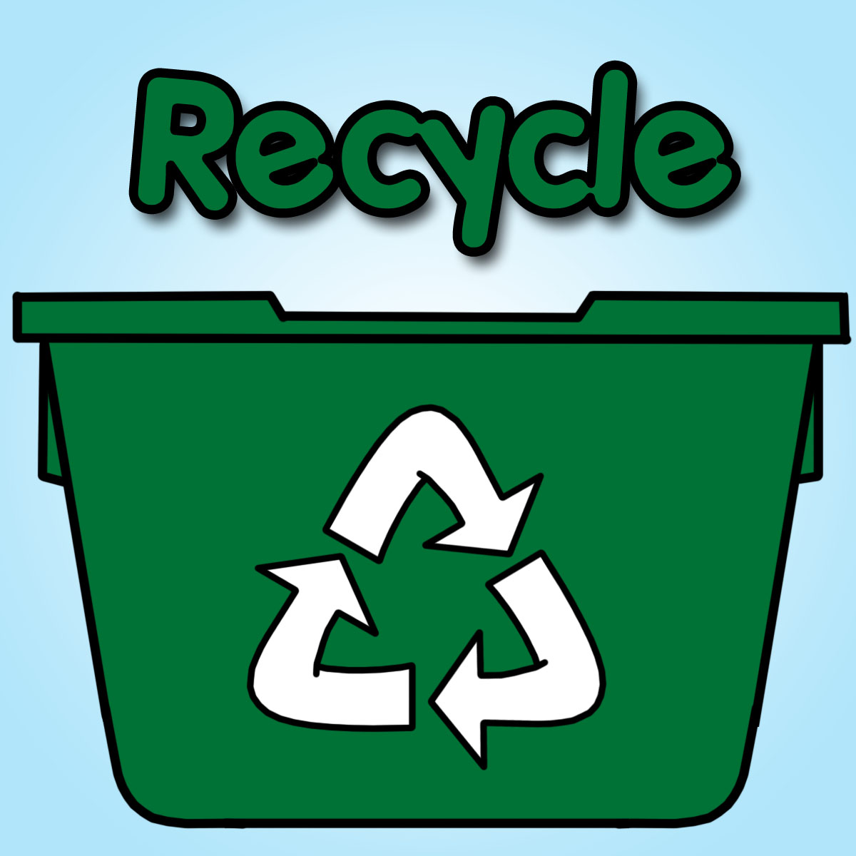 Recycle clipart kid
