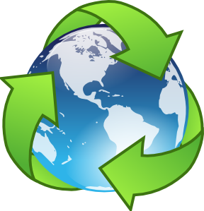 Recycle free recycling clip .