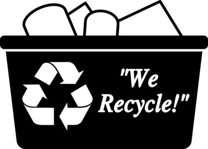 Recycling Box clip art .