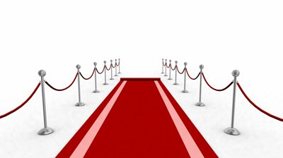 red carpet camera flashes