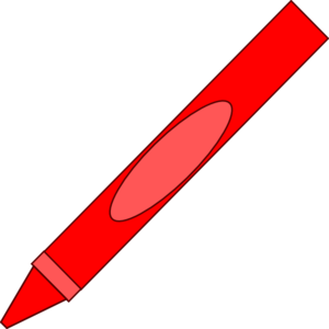 red crayon clipart