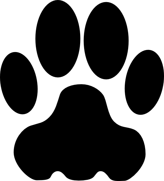 red dog paw clipart - Clipart Dog Paw
