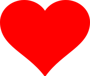 red heart clipart with no background