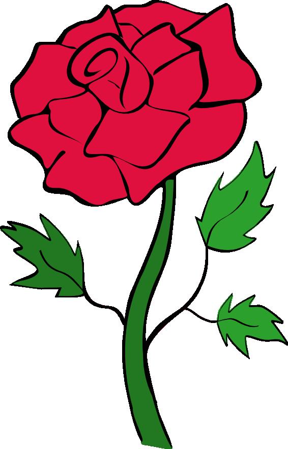 Red Rose Outline Clipart-red rose outline clipart-11