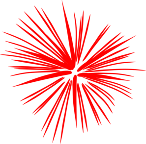 red white and blue fireworks clipart