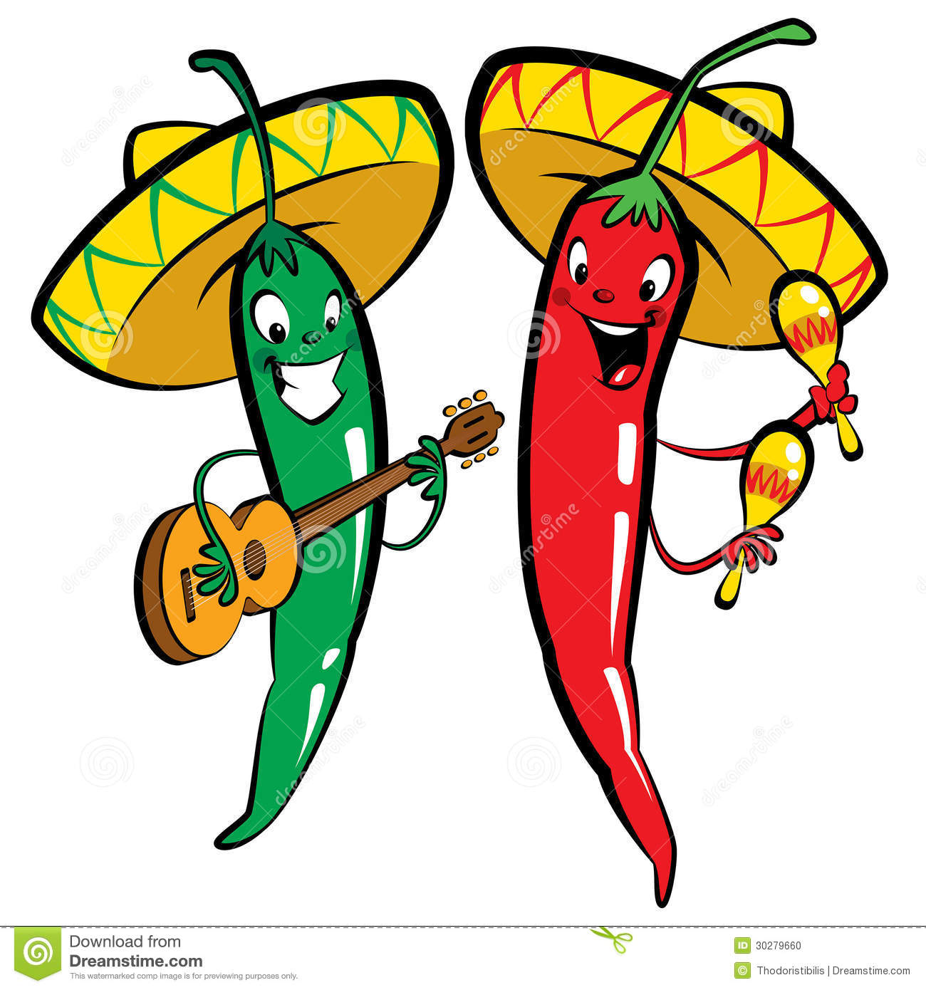 Red and green hot chili character pepper-Red and green hot chili character peppers music group Stock Photo-6