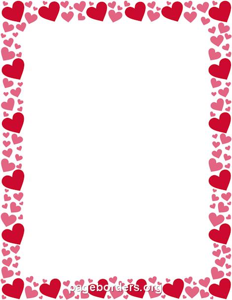 Red and Pink Heart Border-Red and Pink Heart Border-8