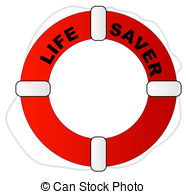 ... red and white life preserver with words life saver