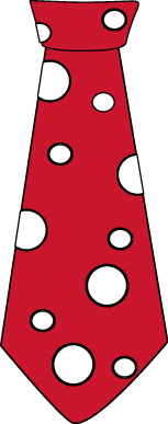Red and White Polka Dot Tie
