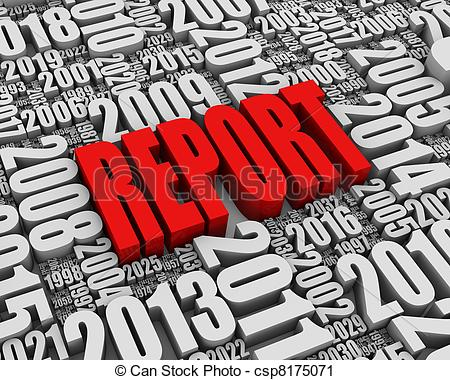 ... Red Annual Report - REPORT 3D text surrounded by calendar... Red Annual Report Clipartby ...