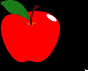 Red Apple 1 Clip Art At Clker Com Vector Clip Art Online Royalty