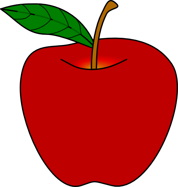 Red Apple Clip Art At Clker Com Vector Clip Art Online Royalty Free
