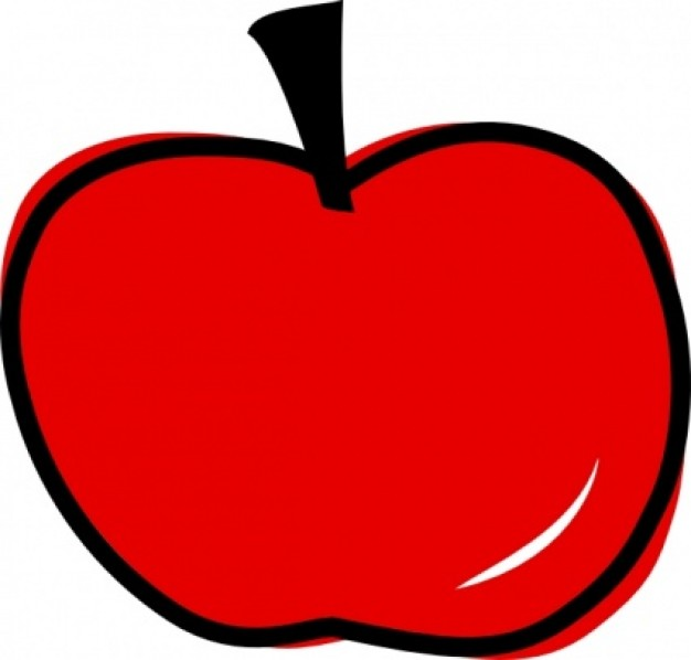 Red Apple clip art | Download free Vector ...
