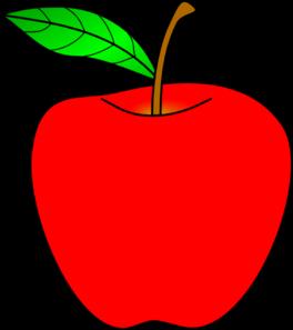 ... Red Apple Clip Art - vector clip art online, royalty .