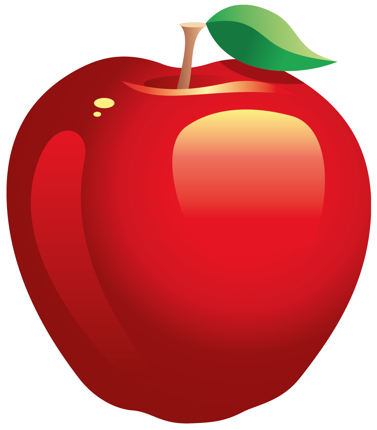 Red apple clipart 2