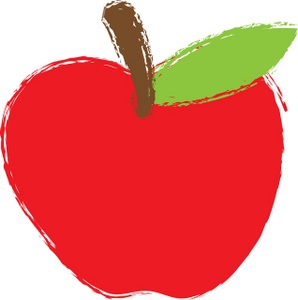 Red apple clipart tumundografico