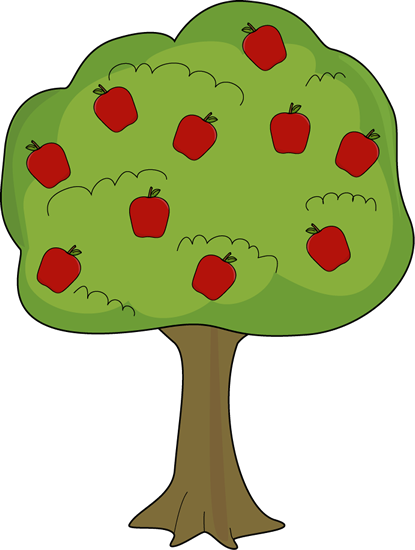 Red Apple Tree. Red Apple Tre - Apple Tree Clip Art