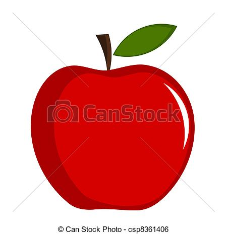 ... Red apple - vector illustration