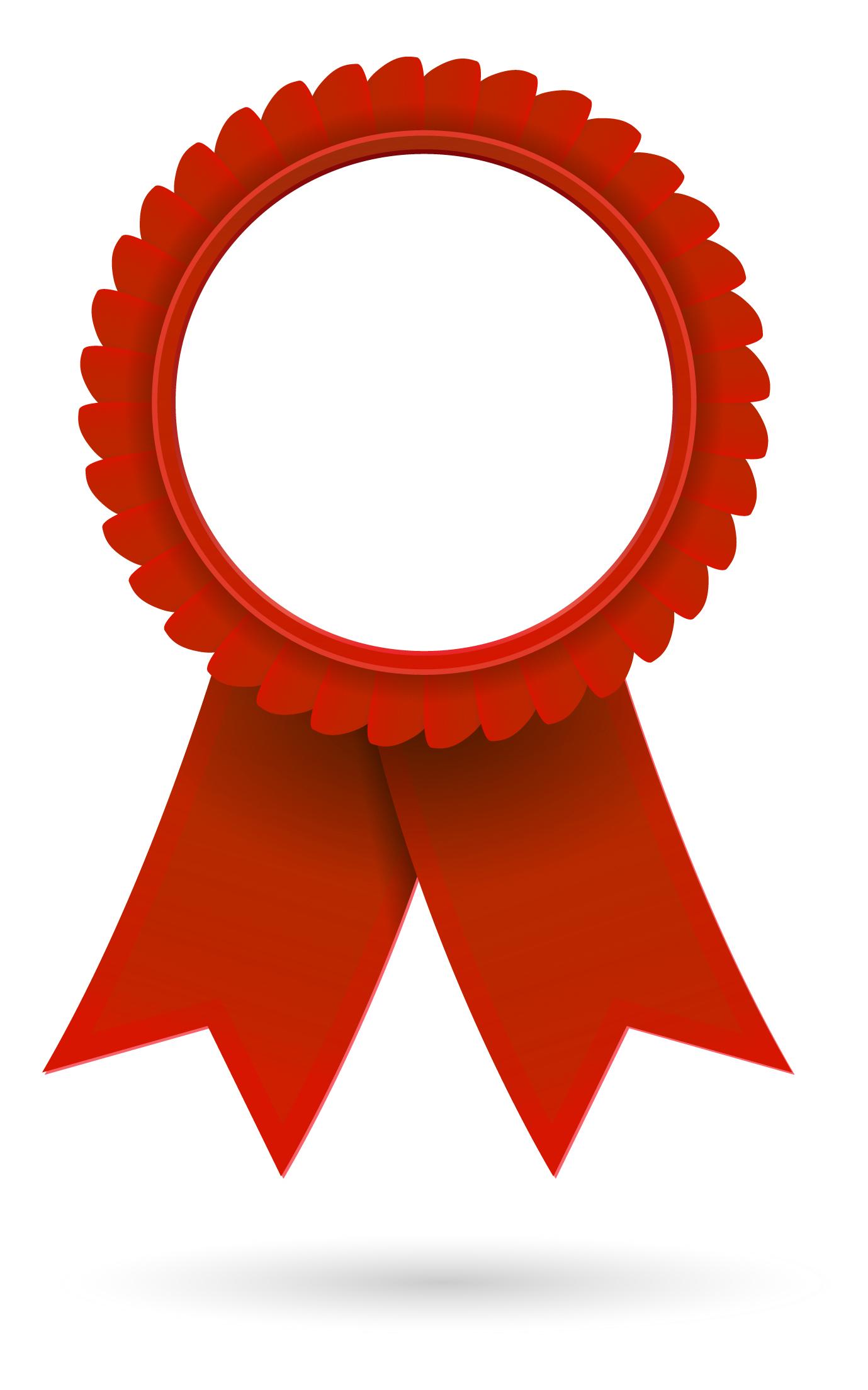 Red Award Ribbon Clipart #1