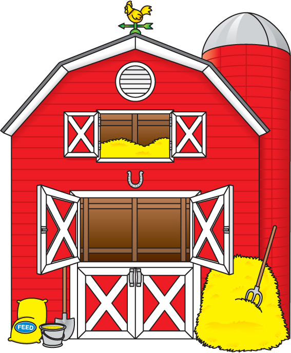 Red barn clip art free clipart images 2 clipartcow