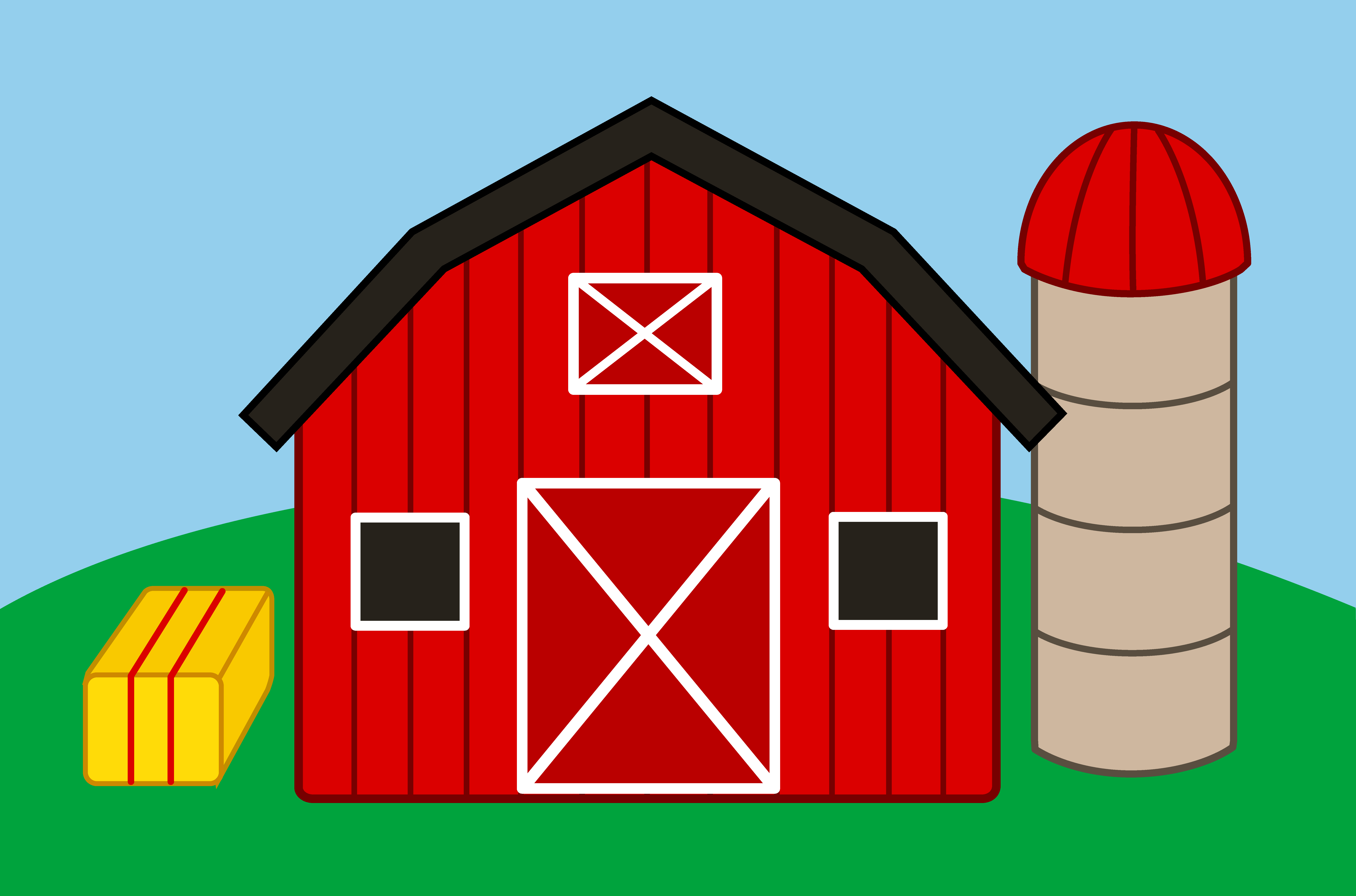 Red Barn Clipart